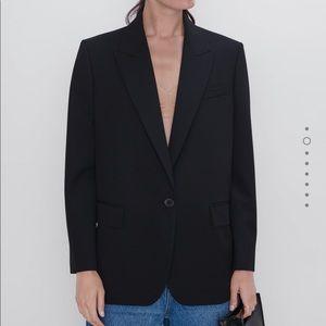 NWOT Zara Buttoned Oversized Blazer